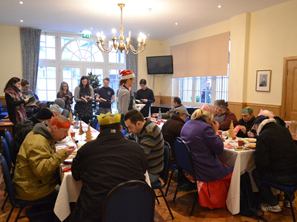 Christmas lunch for the homeless in Oxford