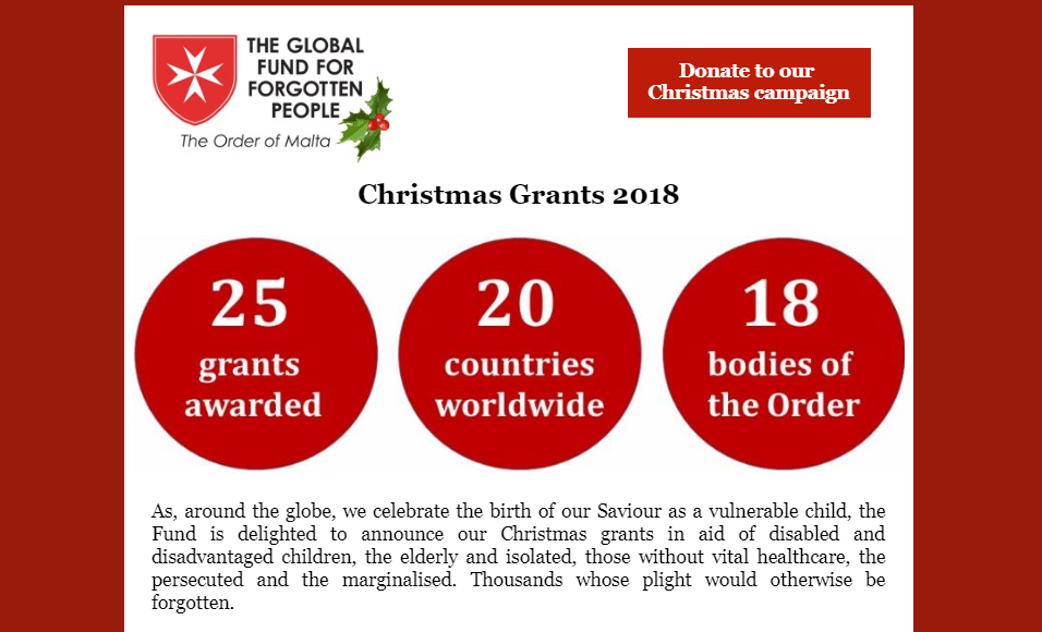 Read our Christmas grants announcement newsletter