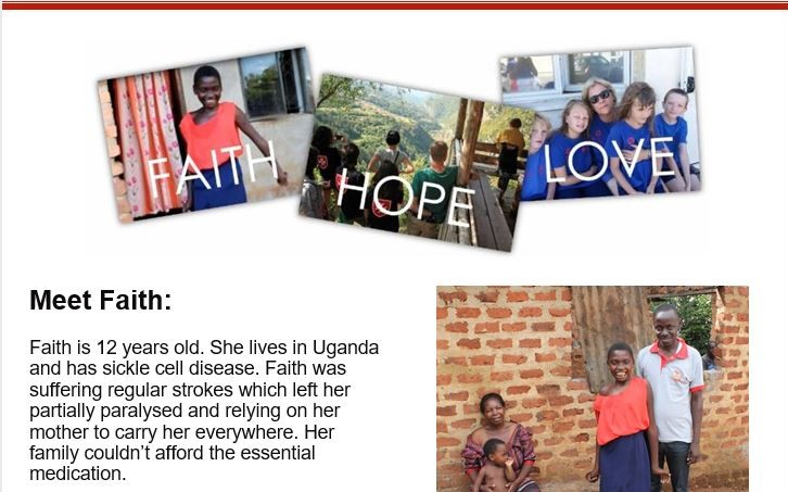 Read our March newsletter: Faith, Hope and Love